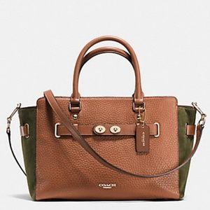 COACH Blake Carryall in Mix Suede/Pebble Leather!